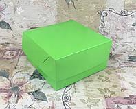 Коробка Салатовый для 4-ох кексов БЕЗ окна  170*170*90