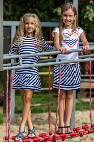 одежда для девочек в морском стиле
