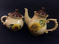 Чайный набор чайник + сахарница в ассортименте