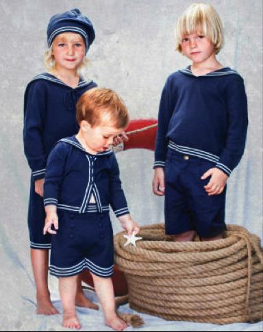 принцы в Англии, одежда морской стиль