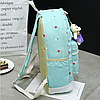Рюкзак с сумочкой в цветочек 4 в 1, фото 7