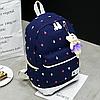 Рюкзак с сумочкой в цветочек 4 в 1, фото 6