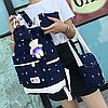 Рюкзак с сумочкой в цветочек 4 в 1, фото 10