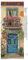 """Схема для частичной вышивки бисером """"Цветущий балкончик"""""""