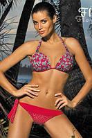 Прекрасный женский купальник бикини Flora от TM Marko (Польша) Красный цвет