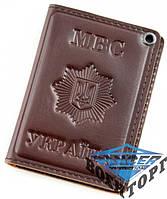 Обложка для удостоверения сотрудников МВД с пластиковым шевроном|МВС Україна