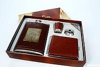 Подарочный набор для мужчин Jim Beam (фляга,портсигар,стопка,лейка)