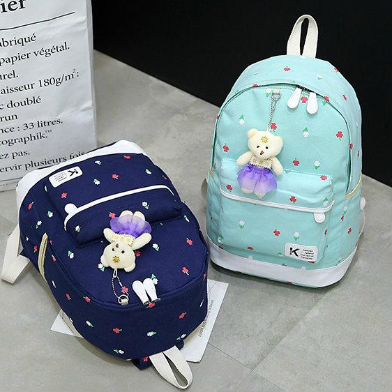 Школьный рюкзак с сумочкой и кошелечком