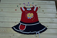 Яркое   летнее  платье  для девочки на 2-5 лет