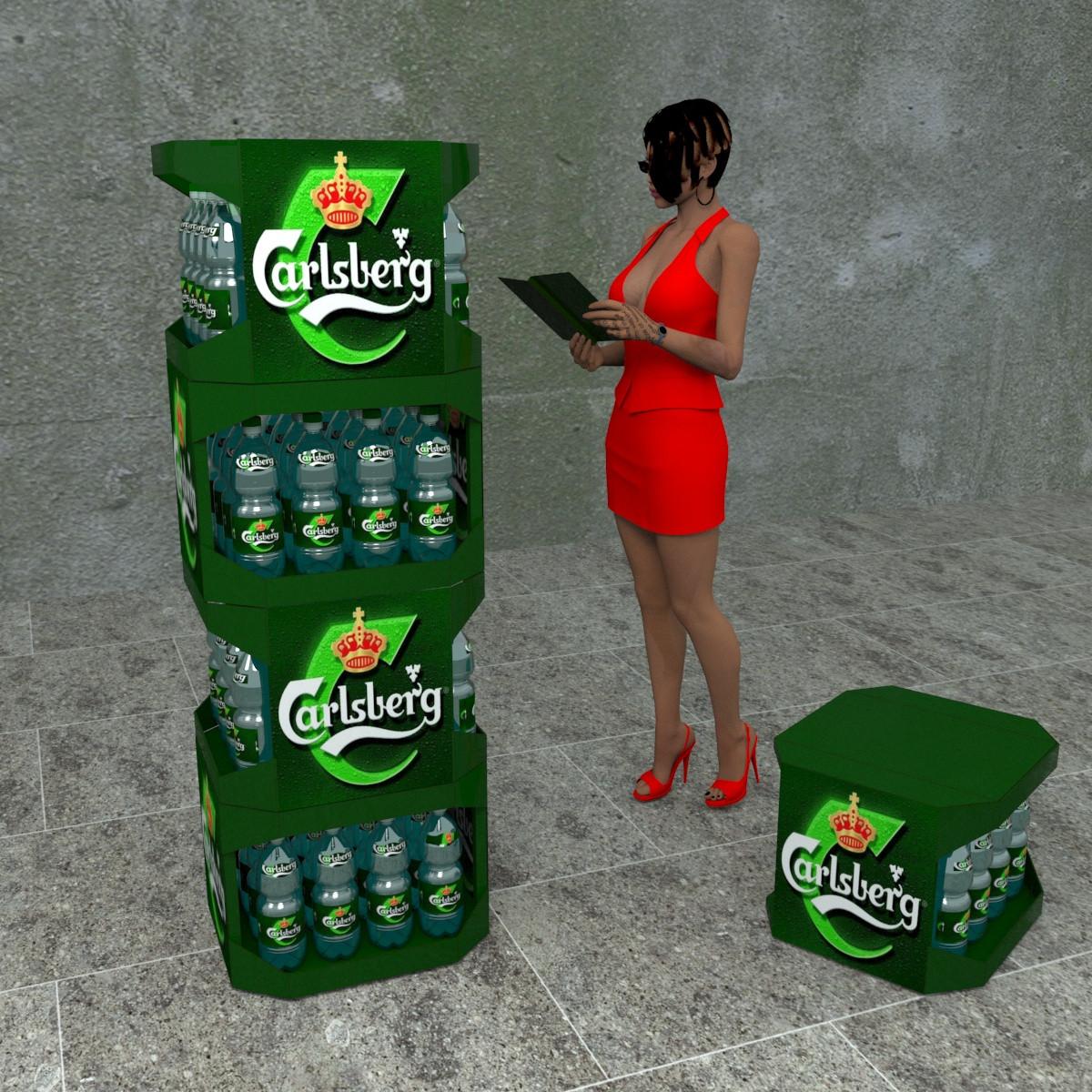 Напольные торговые стойки Carlsberg