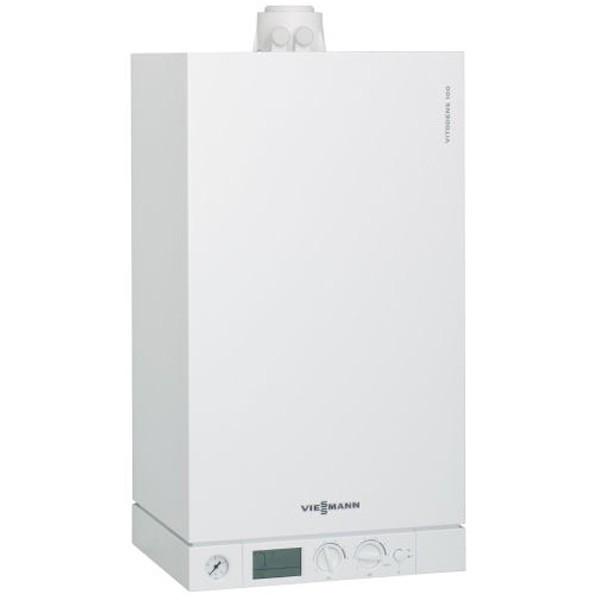 Котёл одноконтурный конденсационный газовый Viessmann Vitodens 100-W 26 кВт B1HC042  + коаксиальный дымоход