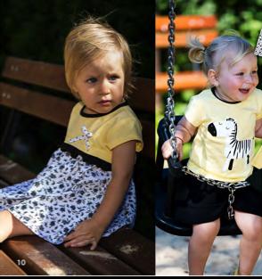 черно-белая детская одежда