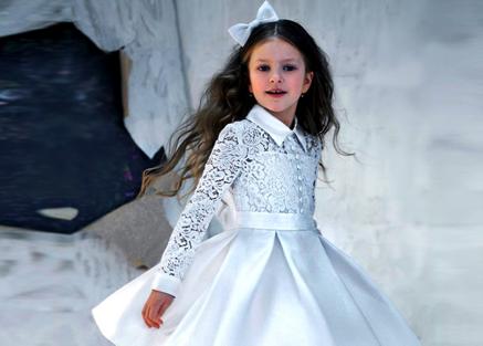 белое платье для девочки купить