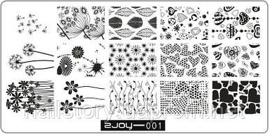 Пластина для стемпинга ZJOY 001