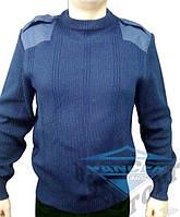 Военный свитер синий