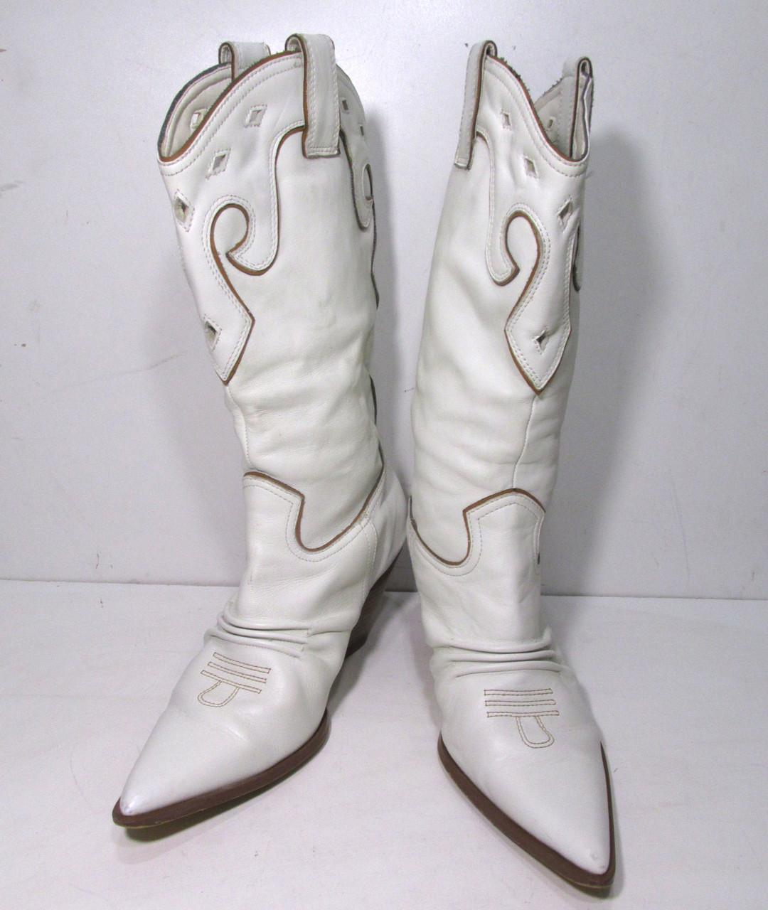 Сапожки кожаные THEME, 7 (40), Белые
