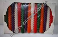 Свечи декоративные цветные, высота 19 см, 30 шт