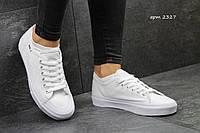 Кеды Vans белые с прорезиненным носком Венсы