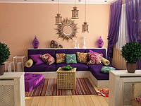 Декоративные подушки в восточном стиле.