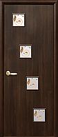 Двери межкомнатные Новый Стиль, КВАДРА, модель Ронда, со стеклом сатин и рисунком Р2