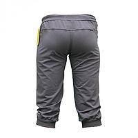 Женские темно-серые бриджи трикотаж на манжете BZ11374-1
