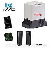 Автоматика FAAC 740 до 500 кг для откатных ворот