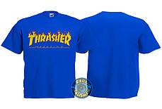 Футболка детская THRASHER Flame синяя