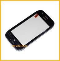 Сенсор (тачскрин) Nokia Lumia 710 c рамкой Black Original
