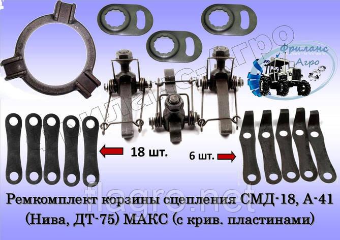 Ремкомплект корзины сцепления СМД-18, А-41 (Нива, ДТ-75) МАКСИМАЛЬНЫЙ (с крив. пластинами), фото 2