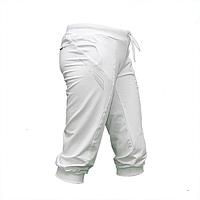 Женские белые бриджи трикотаж на манжете BZ1374-4