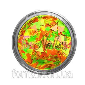 Треугольники - 05 оранжевый, желтый, зеленый