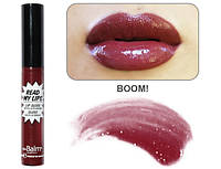 блеск Read My Lips theBalm оттенок BOOM!