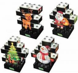 Конструктор LIGHT STAX Junior с LED подсветкой Puzzle Christmas Edition M03003 Light Stax LS-M03003