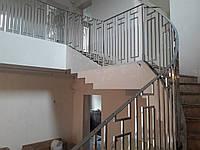 Ограждение лестницы из нержавеющей стали, фото 1