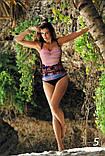 Цельный купальник с красивым рисунком Valentina Marko разные расцветки, фото 4