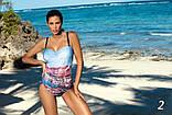 Цельный купальник с красивым рисунком Valentina Marko разные расцветки, фото 3