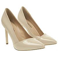 Туфли женские Gelsomino (светло-бежевые, модные, с острым носком)