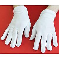 Перчатки Фокусник короткие (белые) 270216-192