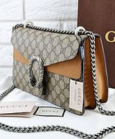 Женская сумка в стиле GUCCI DIONYSUS BAG GREY (3456), фото 1