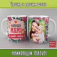 """Чашка с фото """"Найкращій матусі"""""""