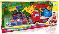 Конструктор Пожарная машина с дорожными знаками, BeBeLino 58013