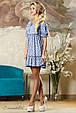 Красивое  женское летнее  платье 2148 синий, фото 3