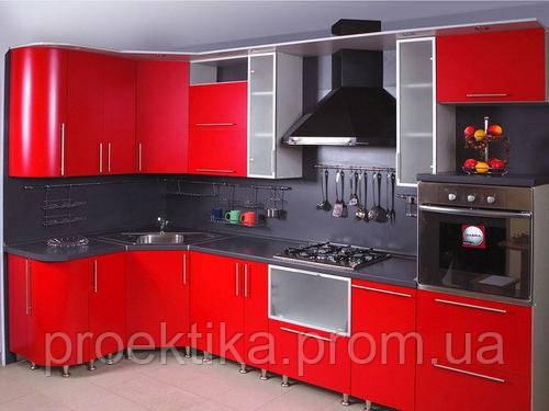 Кухня на заказ угловая фасады из МДФ крашеного