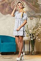 Красивое  женское летнее  платье 2146 белый