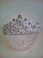 Корона, диадема, тиара в серебре, высота 5 см.
