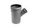 Тройник ПВХ Wavin с раструбами и уплотнительными кольцами для внутренней канализации серый 110х50/45º