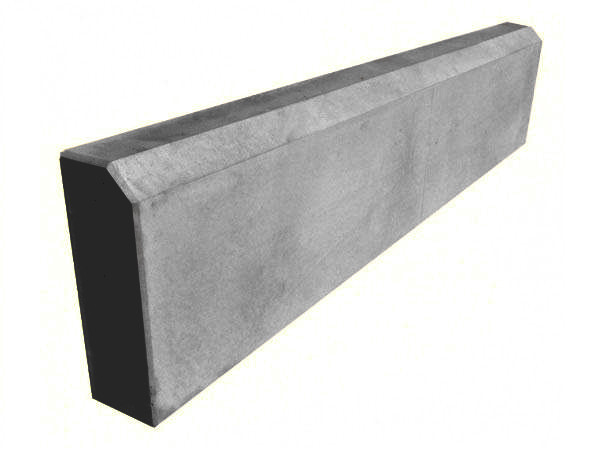 Бордюр тротуарный, поребрик LAND BRICK серый 500х200х45 мм