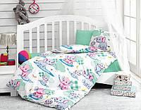 Детское постельное белье со слониками  Cotton Box Elephant Mint
