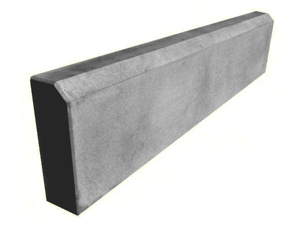 Бордюр тротуарный, поребрик серый 500х200х45 мм