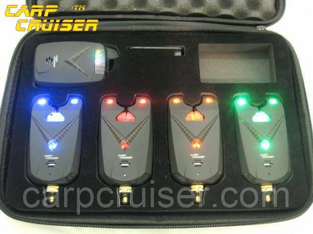 Набор сигнализаторов поклевки Carpcruiser FA213-4 с радио пейджером, анти вор